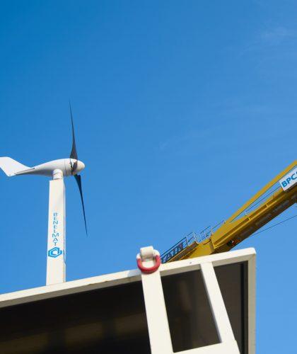Énergie renouvelable sur chantier